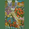 Amelie nous attend au jardin 16 x 20 Painting