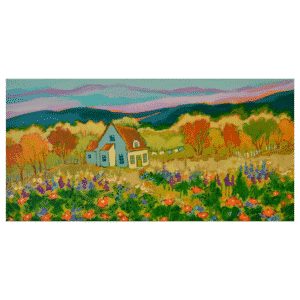 At the end of a beautiful day 24 x12 Painting