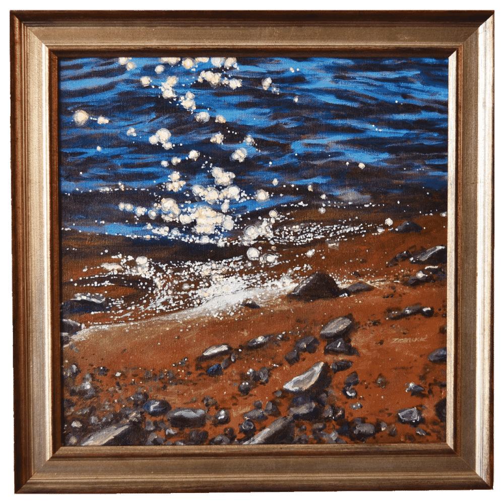 Beach Stars Painting by Tammy Zebruck