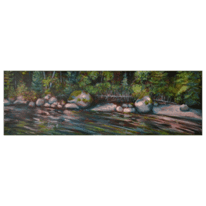 Boulders by the Shore 36 x 12 Painting by Tammy Zebruck