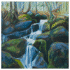 Cascade Black Sturgeon Creek 16 x 16 Painting by Tammy Zebruck