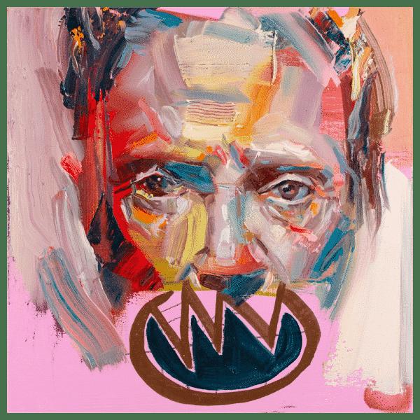 Christopher Walken 10x10 Painting By Geoff Farnsworth