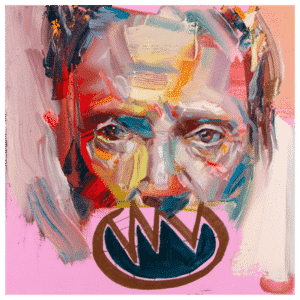 Christopher Walken 10x10 Painting By Geoff Farnsworth