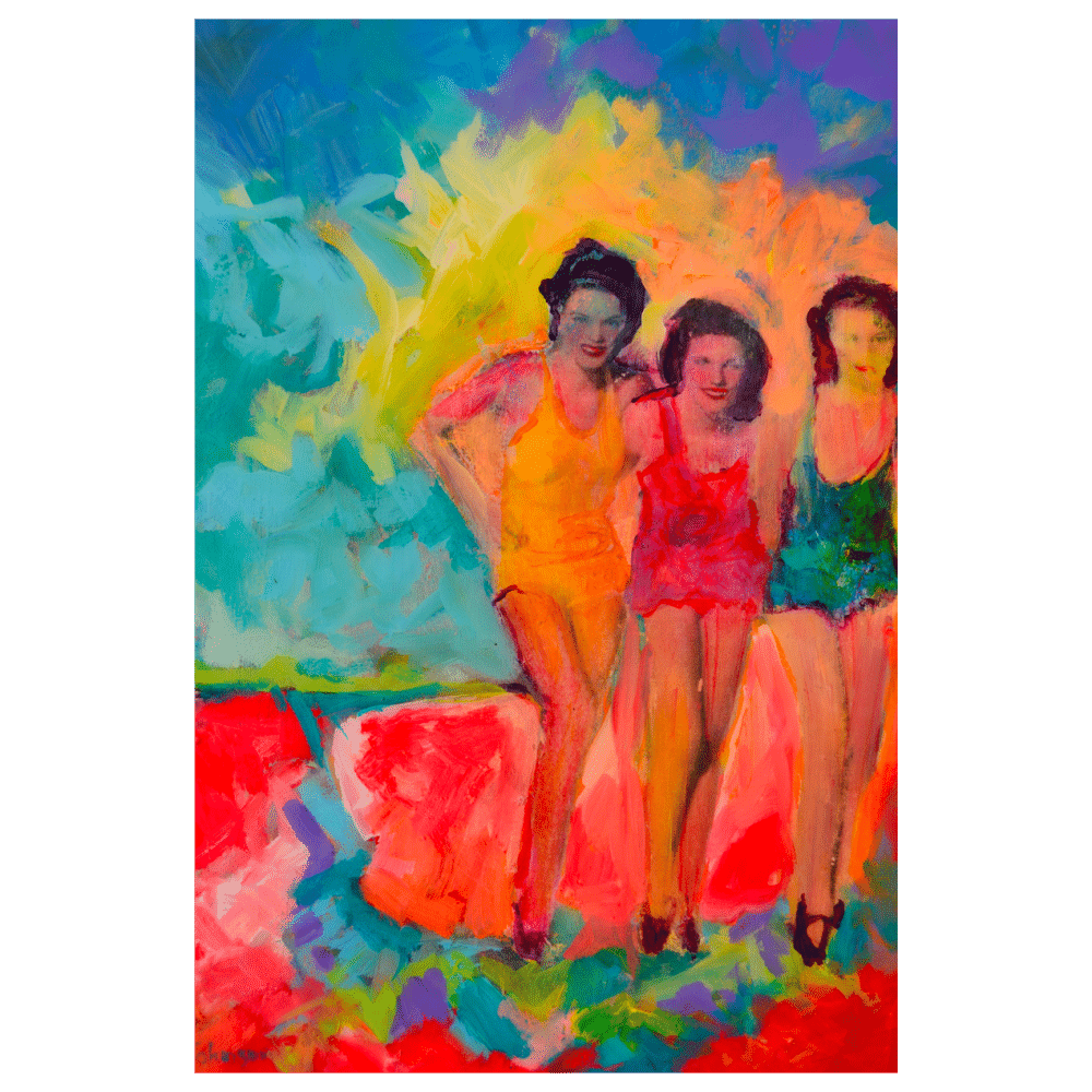 Dancin 12x16 Painting by Pippi Johnson
