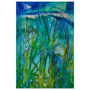 Green Green Grass 8x12 Painting by Pippi Johnson