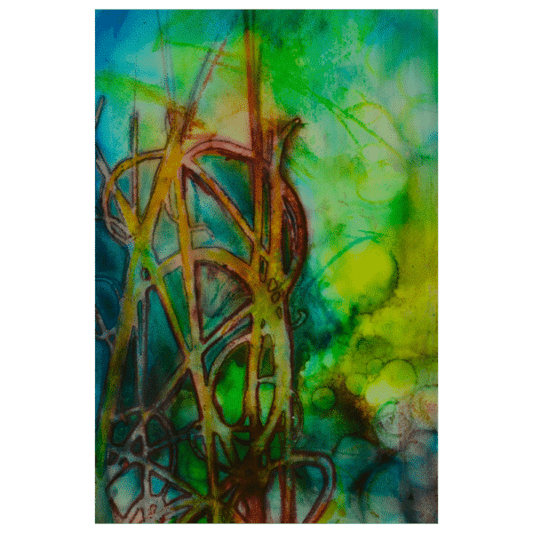 Green Grow the Rushes 8x12 Painting by Pippi Johnson