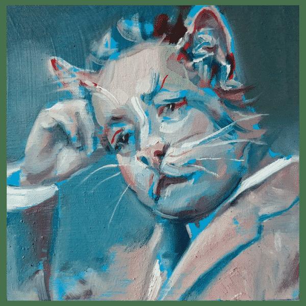 I am a Cat 4x4 Painting By Geoff Farnsworth