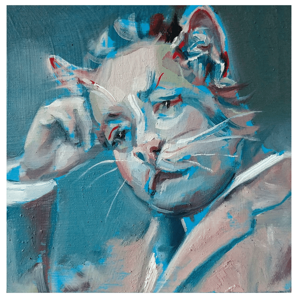 I am a Cat 4x4 Painting By Geoff Farnsworth