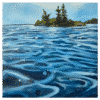 Island Lake of the Woods 30 x 30 Painting by Tammy Zebruck