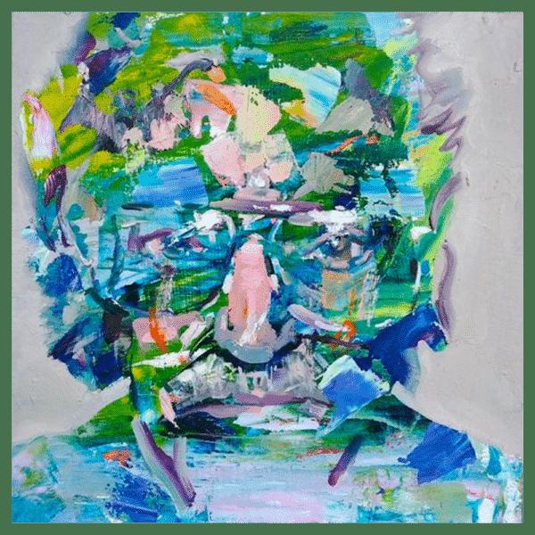 Kurt Vonnegut 12x12 Painting By Geoff Farnsworth