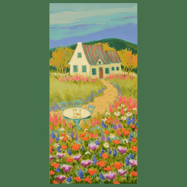 LApres Midi Sur La Colline 12 x 24 Painting