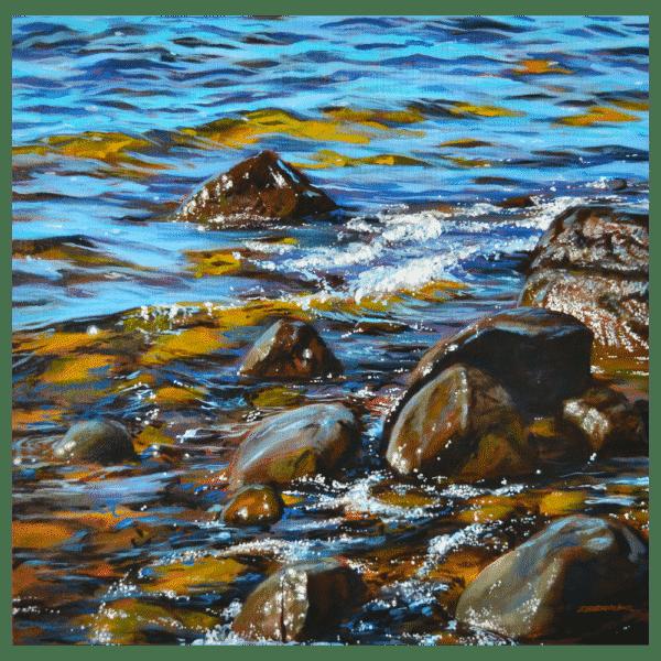 Lake Diamonds 24 x 24 Painting by Tammy Zebruck