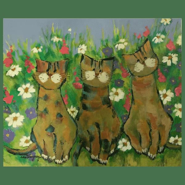 Le Trio-min 12 x8 Painting