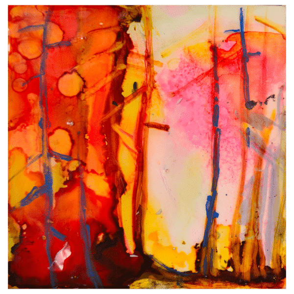 Now a Forest Fire 6x6 Painting by Pippi Johnson
