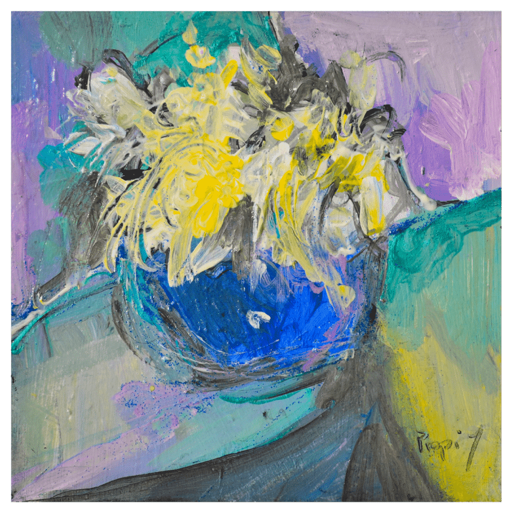 Out for the Party 6x6 Painting by Pippi Johnson