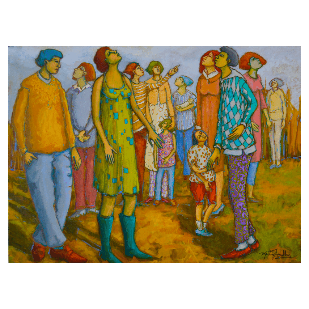 Regarder Plus Haut Voir Plus. Loin 40x30 Painting by Martine Tremblay