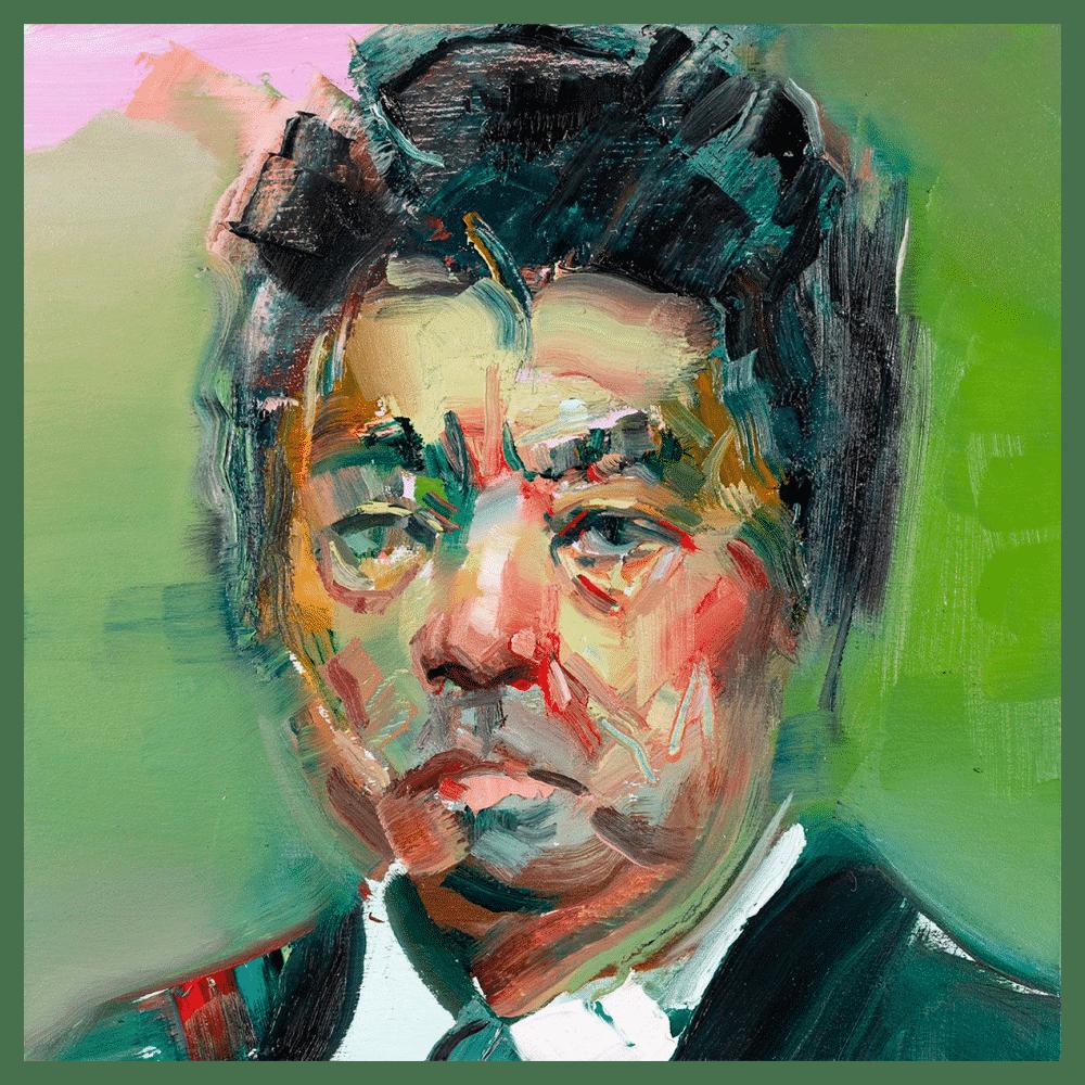 Ryu Murakami 8x8 Painting By Geoff Farnsworth