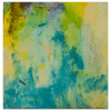Spring Leaves 8x8 Painting by Pippi Johnson