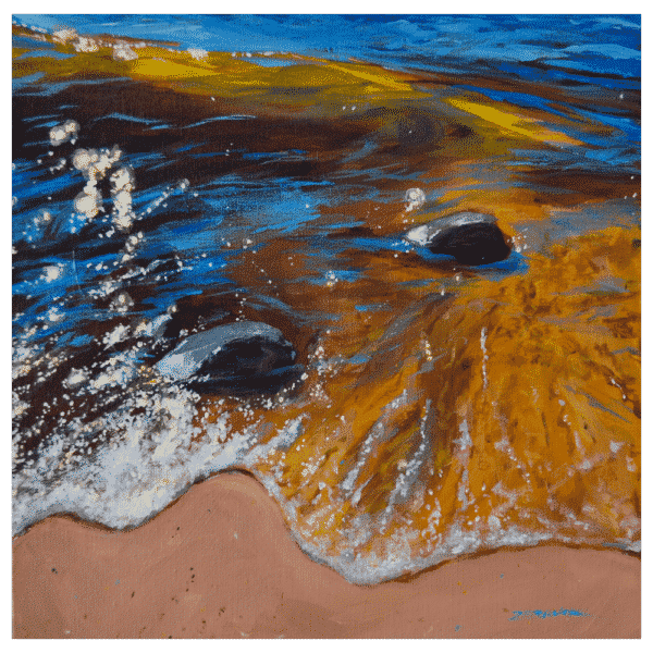 Sunshine on the Water 12 x 12 Painting by Tammy Zebruck