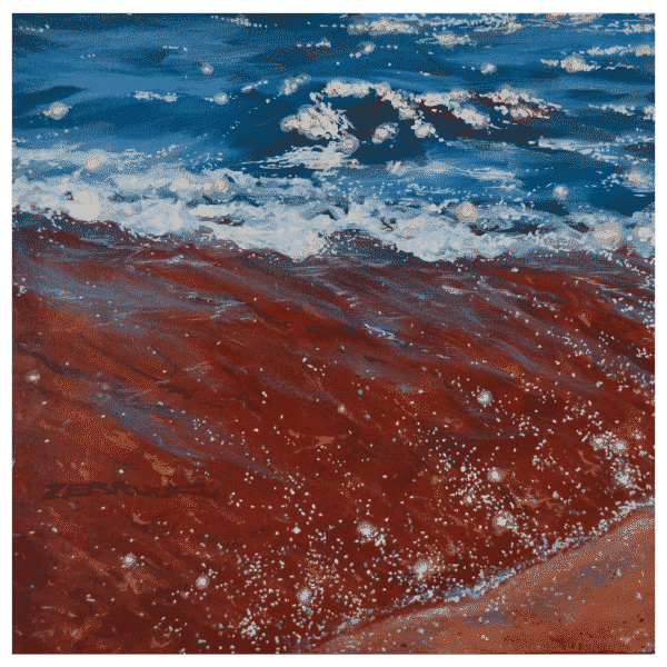 The Waters Edge 12 x 12 Painting by Tammy Zebruck