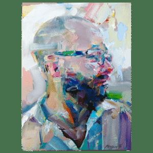 Wayne Corlis 12x9 Painting By Geoff Farnsworth