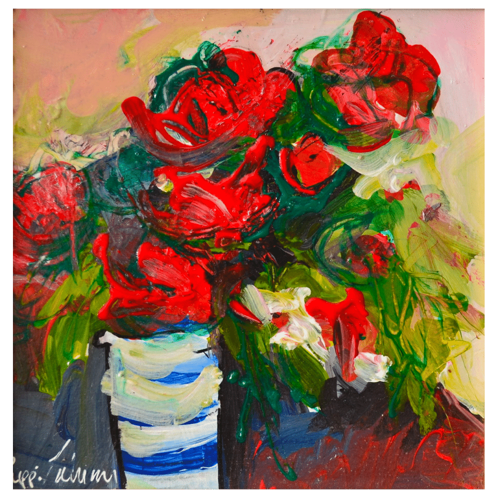 Wintertime 6x6 Painting by Pippi Johnson