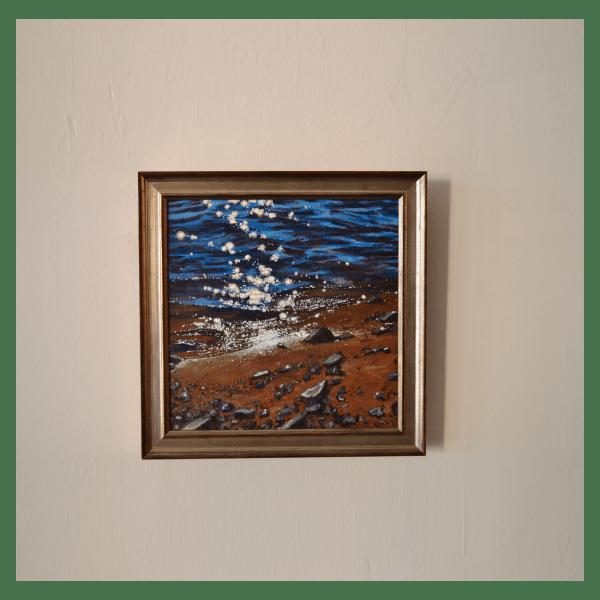 Beach Stars Painting Framed by Tammy Zebruck