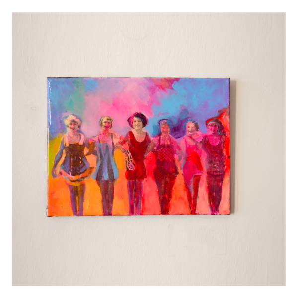 Pippi Johnson W 16' x H 12' Mixed Media and resin on canvas