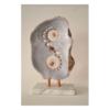 Jason Nelson Spirit of 67 17 x 9 x 5 Alabaster with Copper on a Marble Base $1275 (Sculpture)