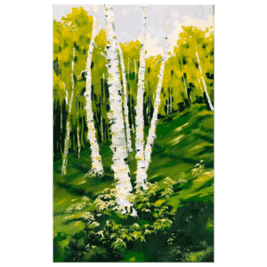 Birch Trees 30x48 by Ron Vilim