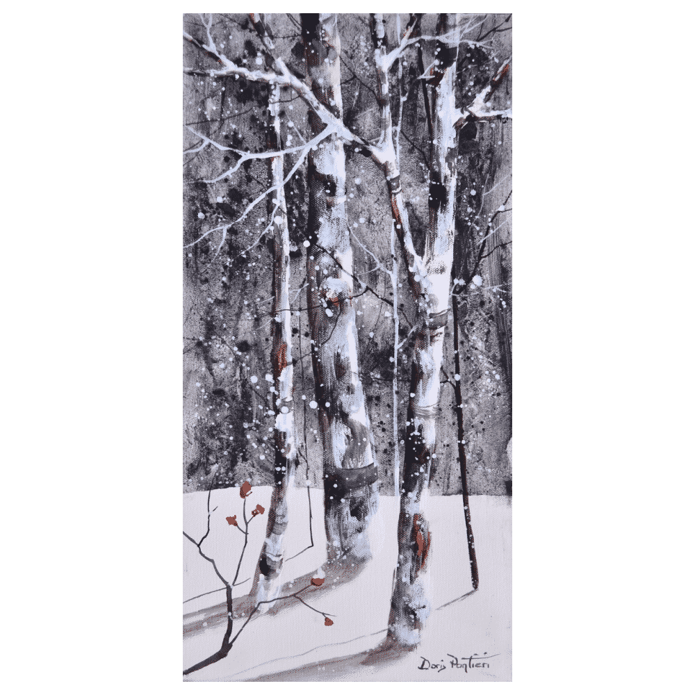 Birch Trees I 10x20 by Doris Pontieri