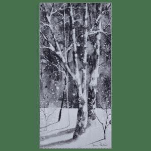 Birch Trees III 10x20 by Doris Pontieri
