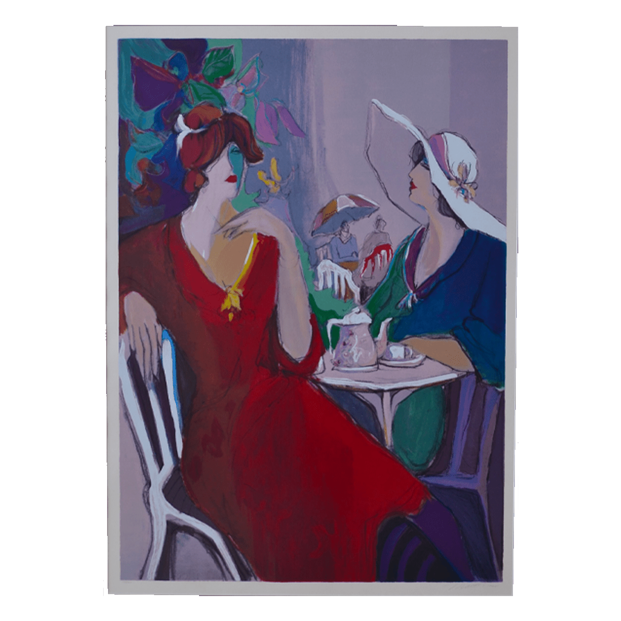 The Conversation , Serigraph of Painting, 158/250 $1650 Framed