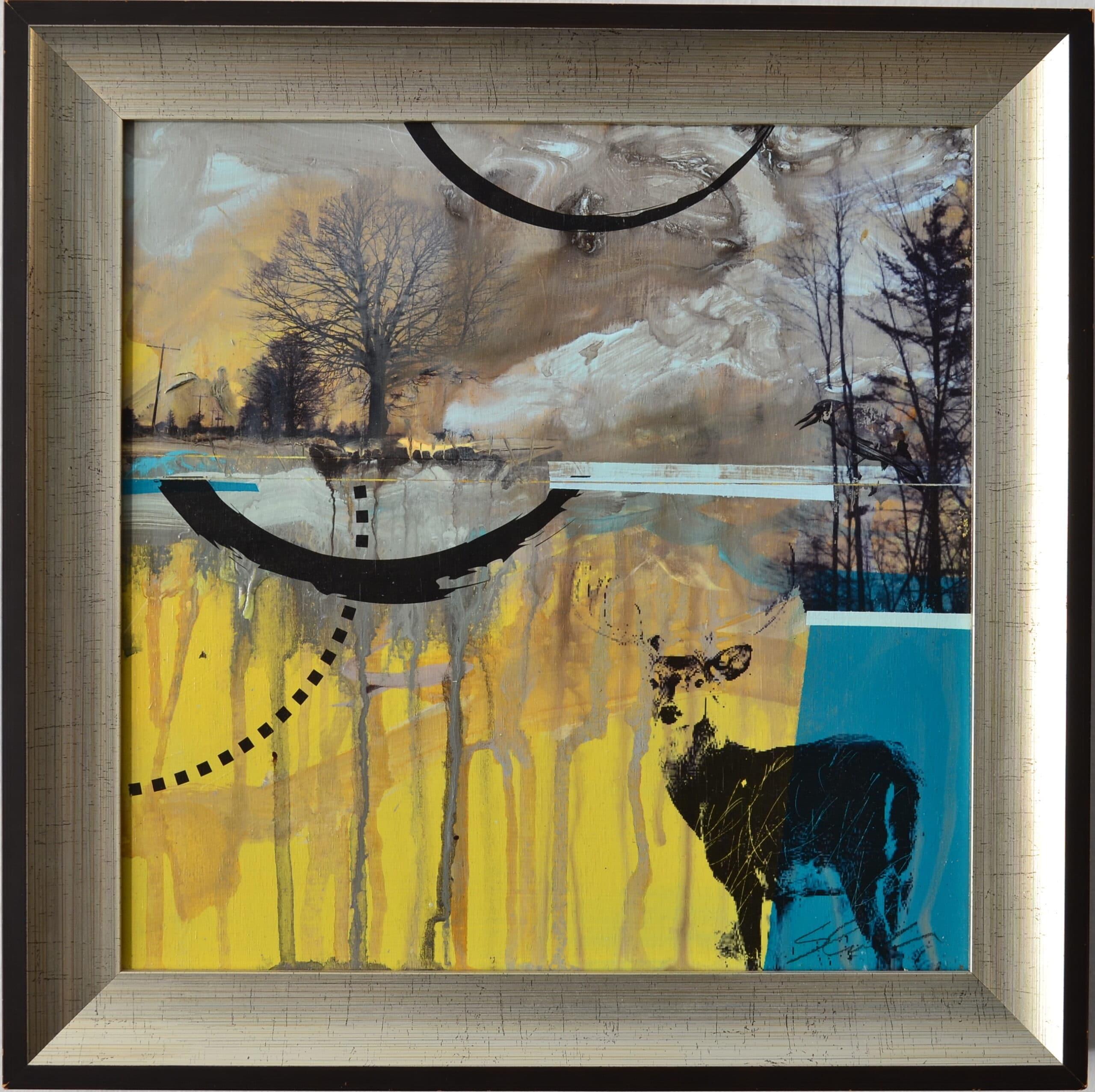 Deer and Crow<br> 12×12