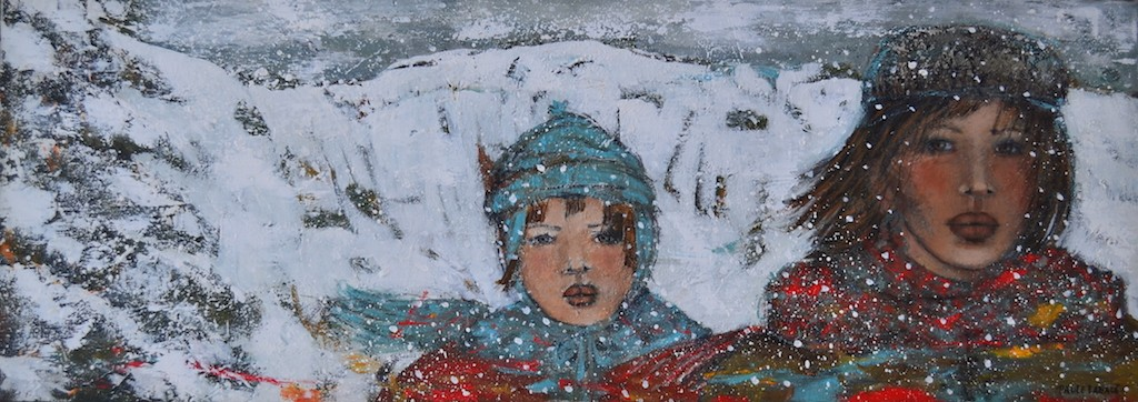 Deux Pendant L'hiver <br> 50×18