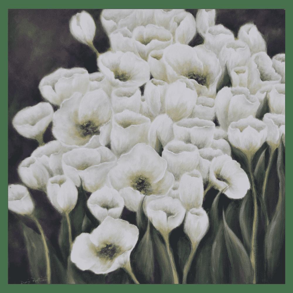 Floral 24x24 by Doris Pontieri