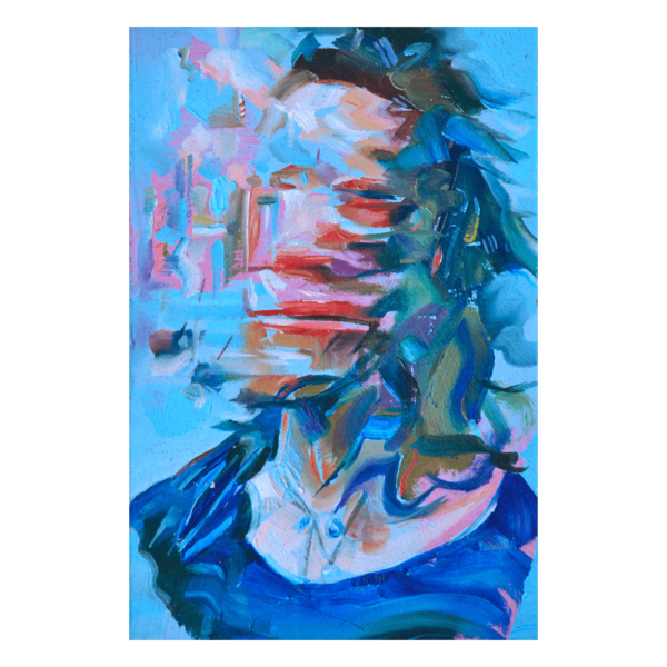 Abstracted Head Study (Emma II) 4 x 6 Oil on Panel $250 (Abstract, Figurative)