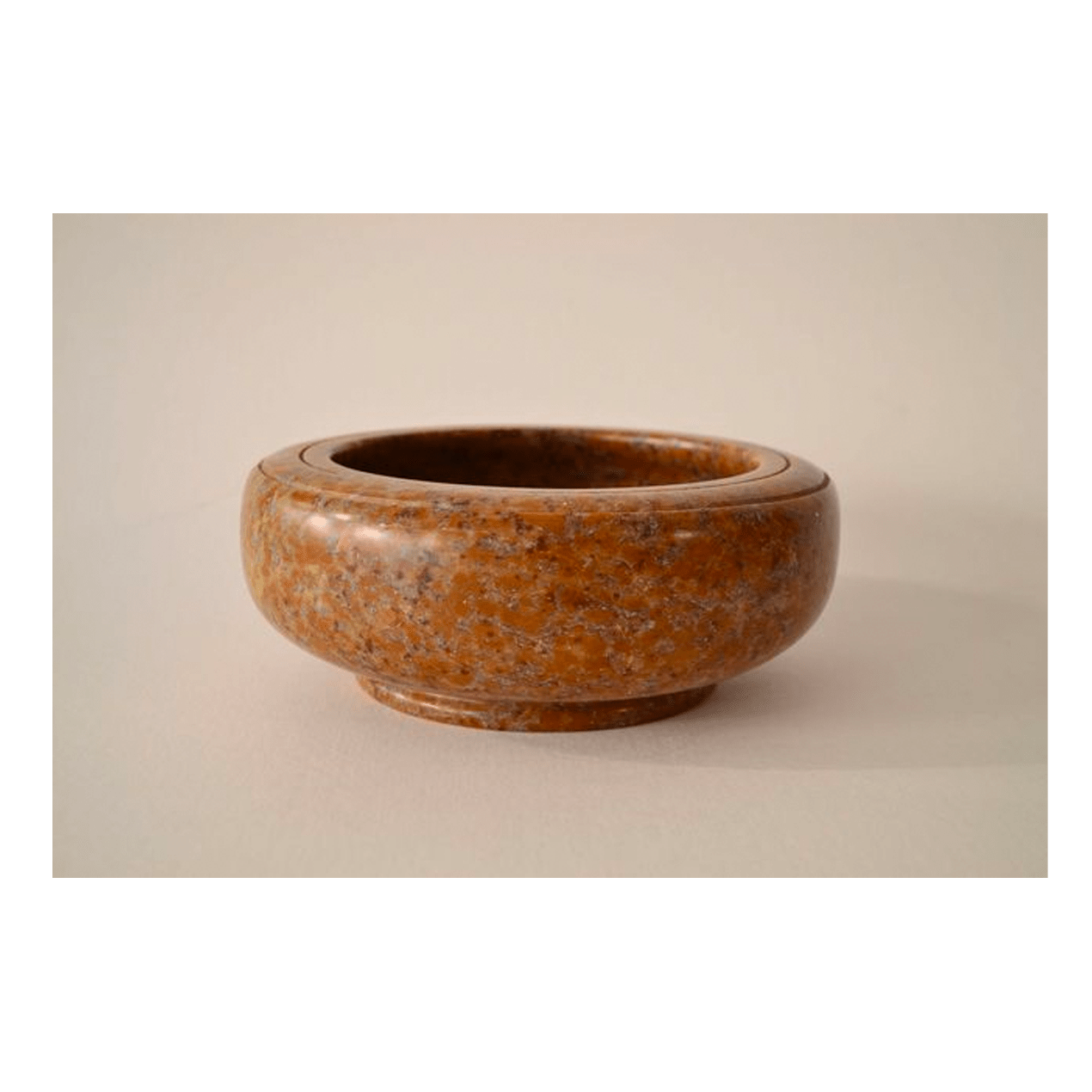 Orange Bowl 9 x 3 ½ Pyrophyllite $400 (Sculpture)