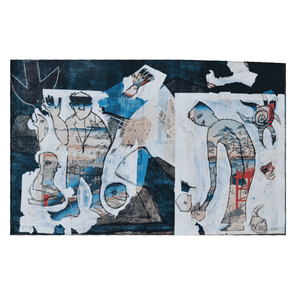 Paris 1900-Tokyo 1850 IV 40 x 29 Mixed Media on Paper $1050 Framed (Abstract, Art on Paper)