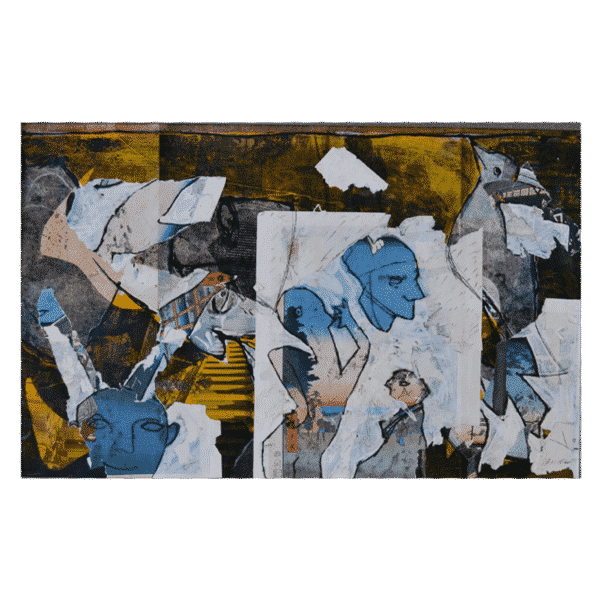 Paris 1900-Tokyo 1850 II 40 x 29 Mixed Media on Paper $1050 Framed (Abstract, Art on Paper)