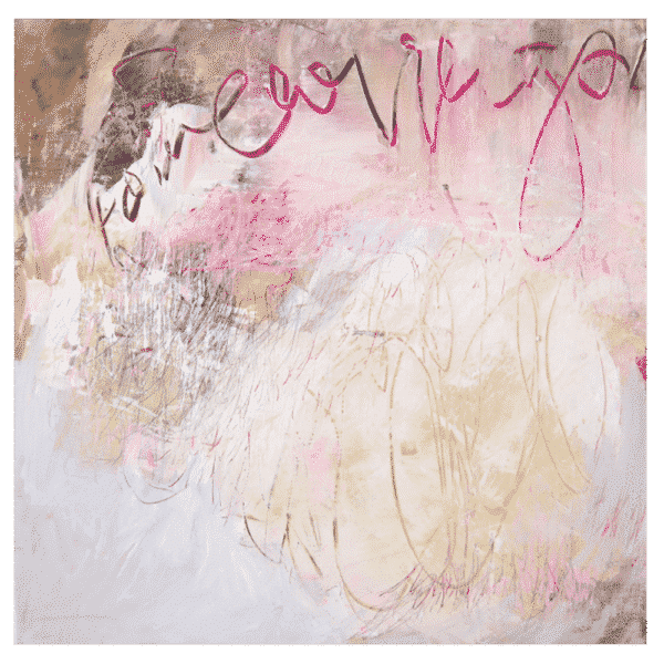 Pink Abstract 30x30 Painting by Shane Norrie