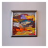 Purple Rock 12 x 12 Mixed Media on Panel $495 Framed (Abstract)