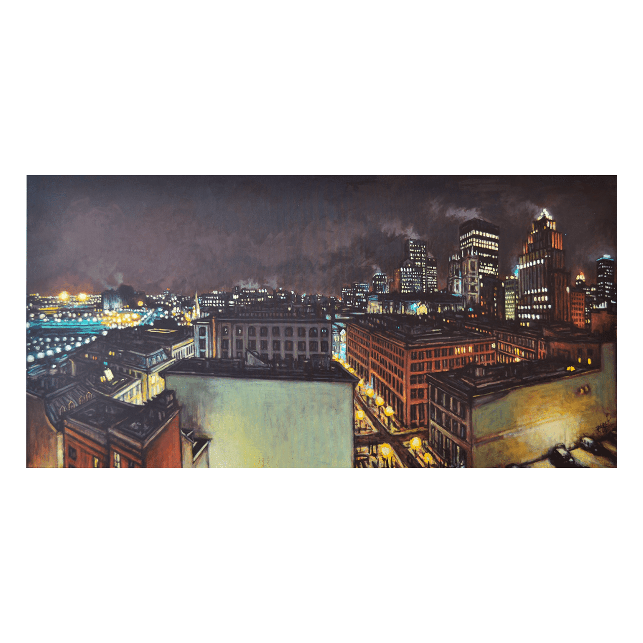 Same Old and New by Night 80 x 40 Acrylic on Canvas $4950