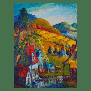 Sortir La Pluie 36 x 48 Oil on Canvas $4300