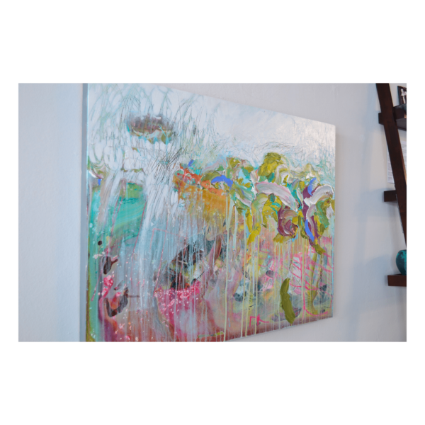 A Spring Walk 40 x 30 Acrylic on Panel $1750 + Framing (Abstract)