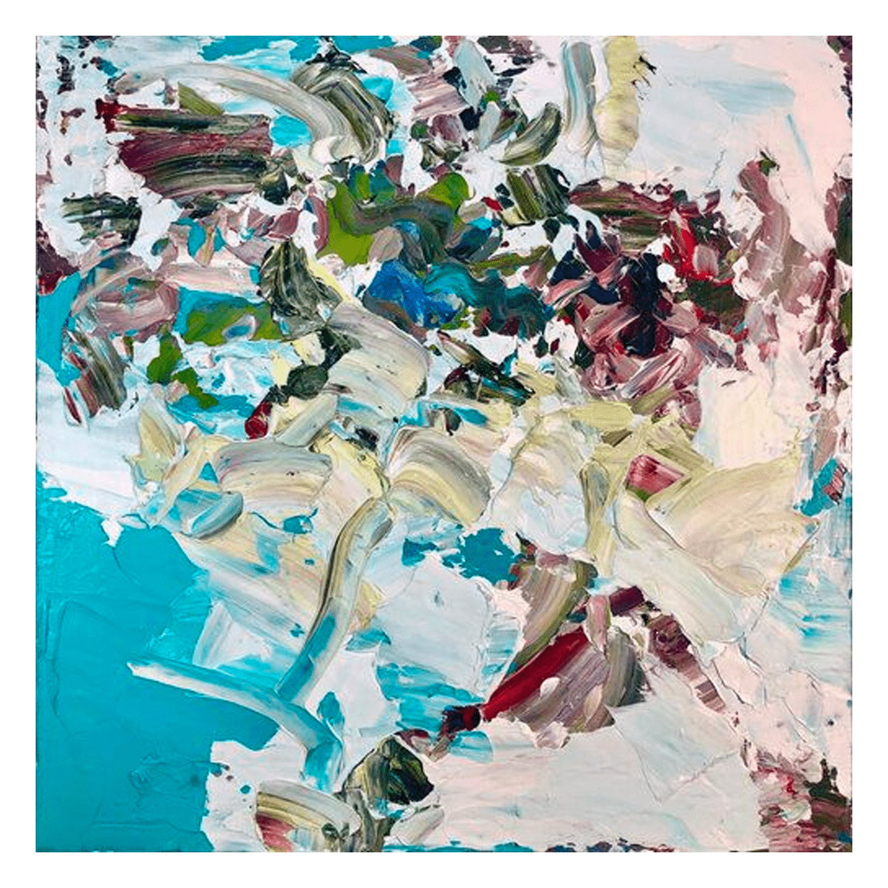 State of Being 30 x 30 Acrylic on Panel $2200 Framed (Abstract)