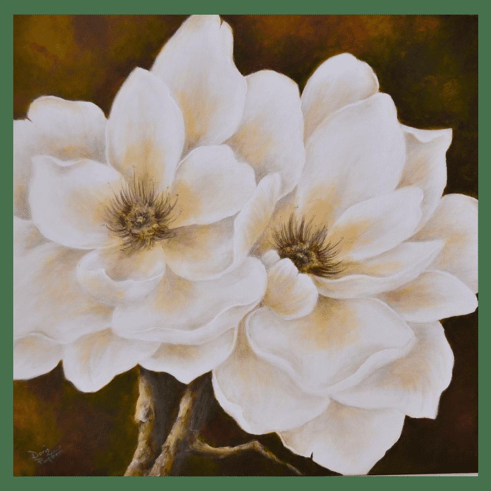 The White Magnolia 24x24 by Doris Pontieri