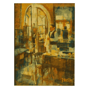 The Bar is Open 12 x 16