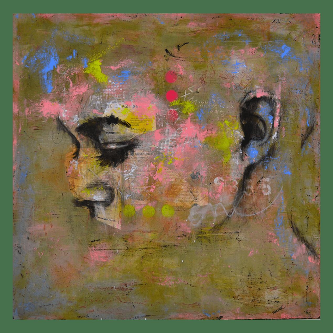 Treve Exode 36 x 36 Mixed Media on Canvas $1930