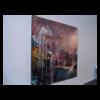 Weeping Sakura & Arbour 48 x 48 Acrylic on Panel $3390 (Abstract)